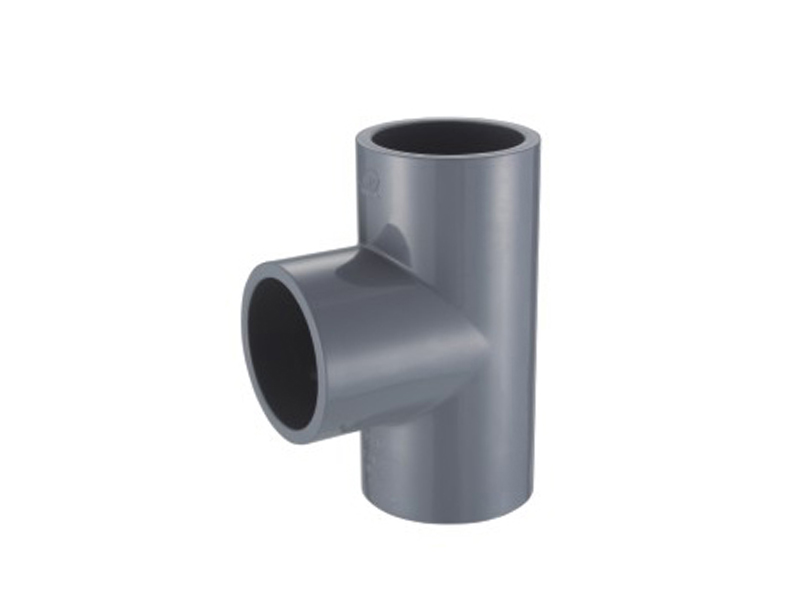 Upvc injection round tee pipe fitting