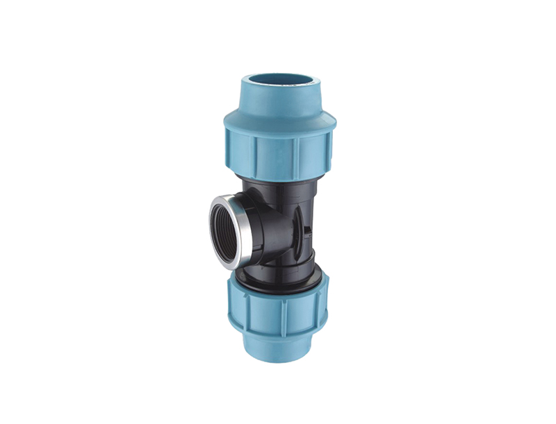 Best price drip water irrigation fittings pp compression female tee