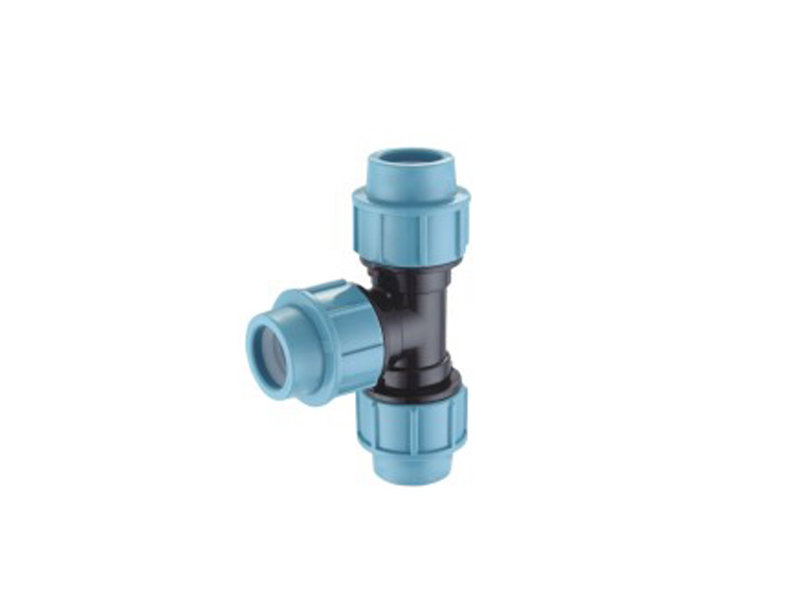 Irrigation system pp compression fittings 3 way connector pp equal tee