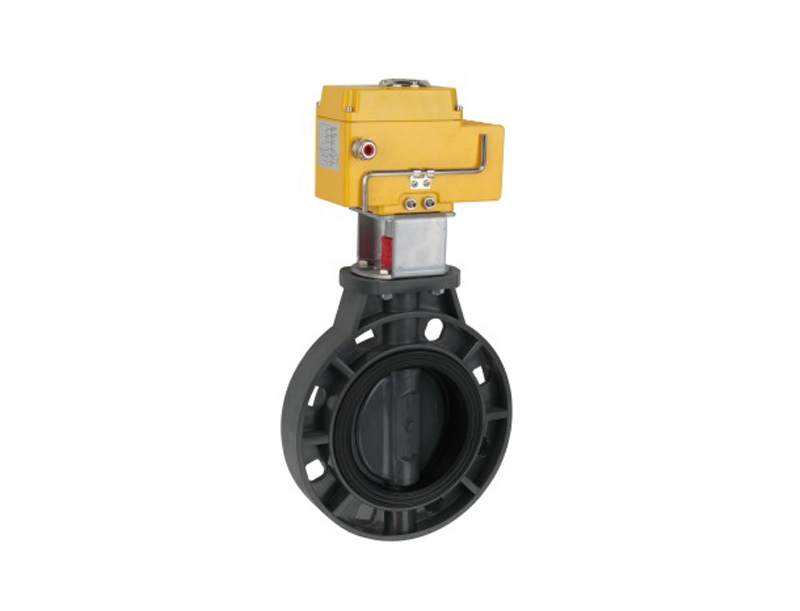2''-16'' upvc electric actuator butterfly valve