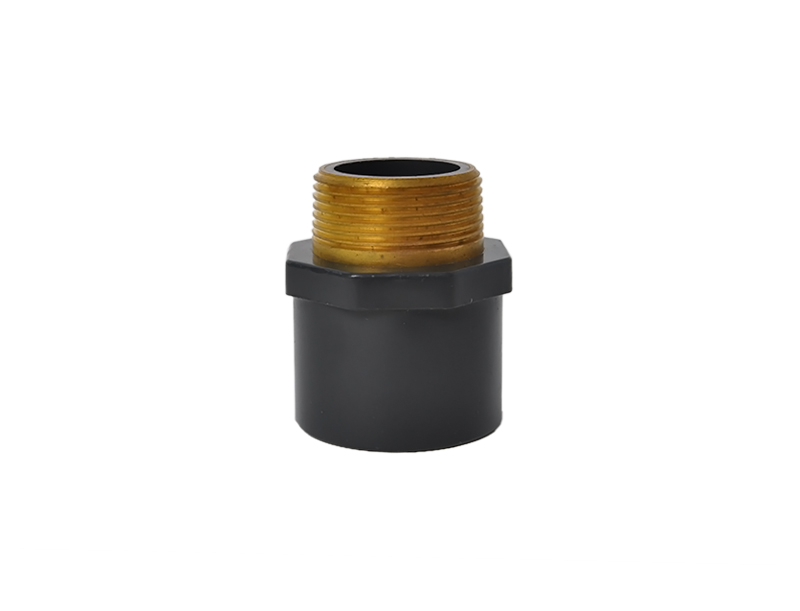 High quality upvc plastic water supply copper threaded male coupling