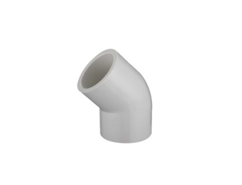 pipe fittings sch40 UPVC pressure 45 degree elbow