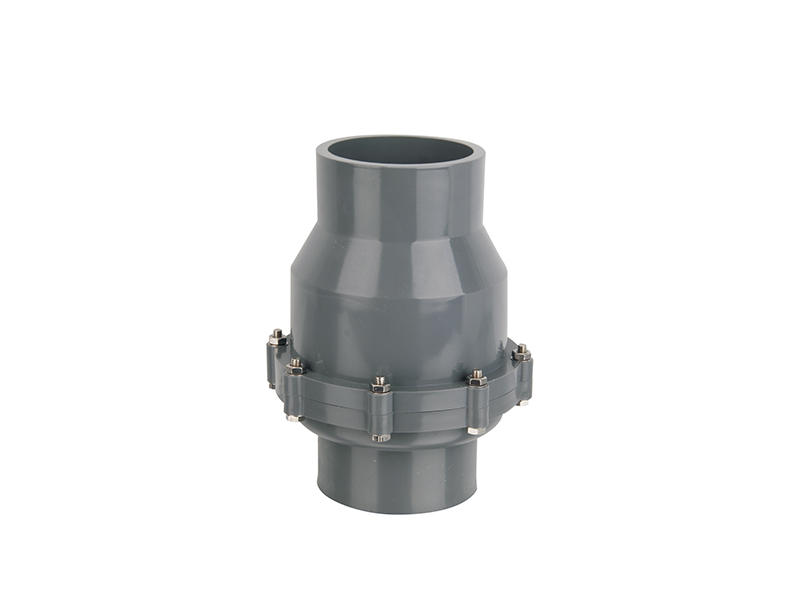 Direct factory one way plastic pvc swing check valve