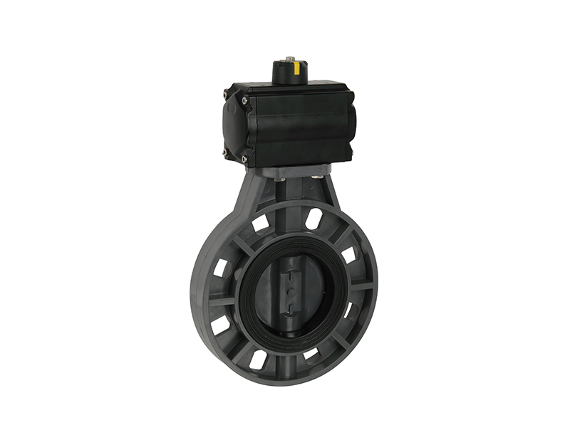 Direct factory upvc pneumatic actuator butterfly valve
