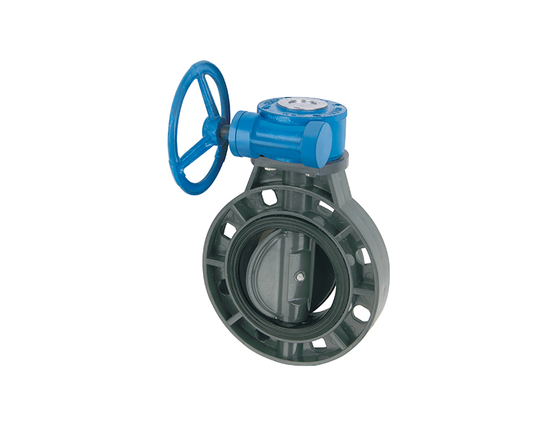 Best price china manufacturer all sizes upvc butterfly gear valve